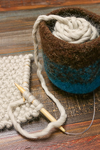 Cascade Felted Yarn Bowl Kit - Home Accessories