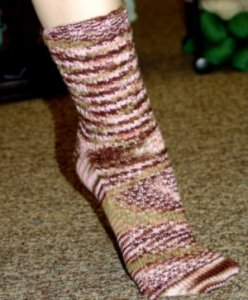 Battle Born Knits Patterns - Fish Scale Socks Pattern