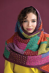 Rowan Overlapping Patches Wrap Kit - Scarf and Shawls