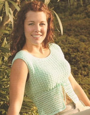Blue Sky Fibers Sportweight Trendy Top Kit - Crochet for Adults