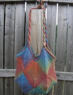 Knit One, Crochet Too Patterns - Painted Diamonds Bag Pattern
