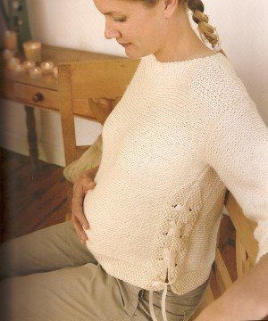 Blue Sky Alpacas Worsted Cotton Maternity 'Bump' Sweater Kit - Women's Pullovers