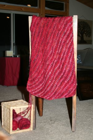 Jimmy Beans Wool Knit Red - Knit Red Shawl Kit