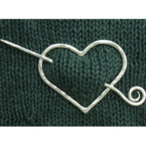 Hearth & Forge Shawl Pins - Custom Heart Shawl Pin