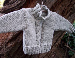 Blue Sky Alpacas Worsted Cotton Kai Cable Sweater Kit - Baby and Kids Pullovers
