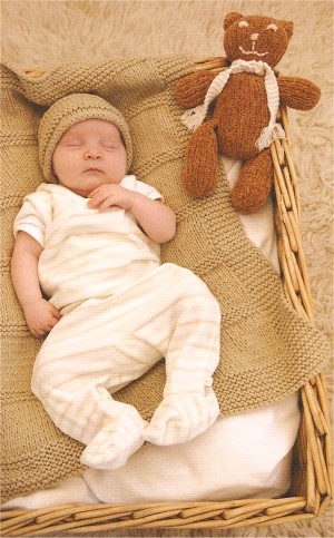 Blue Sky Alpacas Worsted Cotton Blanket and Hat Kit - Baby and Kids Accessories