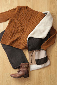 Madelinetosh Pinyon Pullover Kit - Women's Pullovers