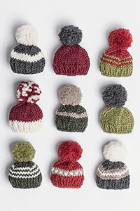 Blue Sky Fibers Holiday Cheer Mini Hat Kit - Home Accessories