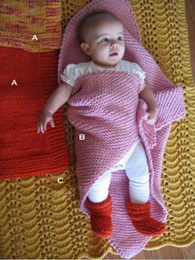 Knitting Pure and Simple Patterns - Baby & Children Patterns - 0281 - Bulky Baby Blankets and Booties