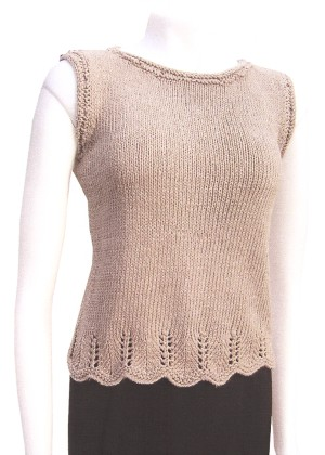 Knit One, Crochet Too Chevron Trim Top Kit - Women's Sleeveless