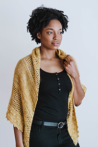 Shibui & Madelinetosh Wildbird Shawl Kit - Crochet for Adults