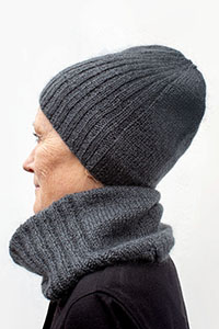 Shibui Knits Standing Tall Hat & Cowl Kit - Hats and Gloves