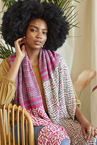 Universal Yarn Palmetto Scarf Kit - Scarf and Shawls