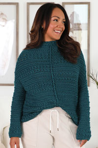 Cascade Homebody Pullover Kit - Crochet for Adults