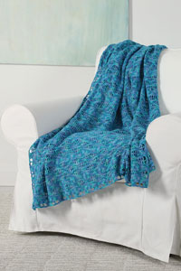 Universal Yarn Deep Sky Throw Kit - Crochet for Home