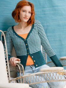 Blue Sky Alpacas Skinny Cotton Skinny Cardigan Kit - Women's Cardigans