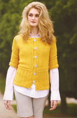 Cascade Baby Alpaca Chunky Short-Sleeved Cardigan Kit - Women's Cardigans