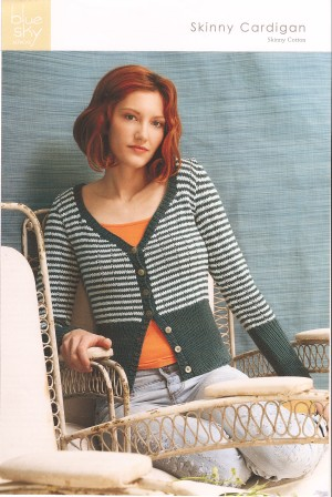 Blue Sky Alpacas Adult Clothing Patterns - Skinny Cardigan Pattern
