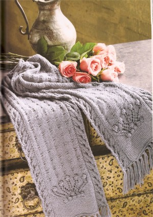Classic Elite Wool Bam Boo Royal Crowns Kit - Scarf and Shawls