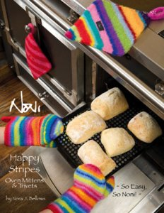 Noni Patterns - Happy Stripes Oven Mitts and Trivets Pattern