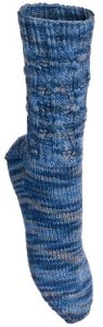 Lorna's Laces Lorna's Patterns - Twist of Denim Sock Pattern