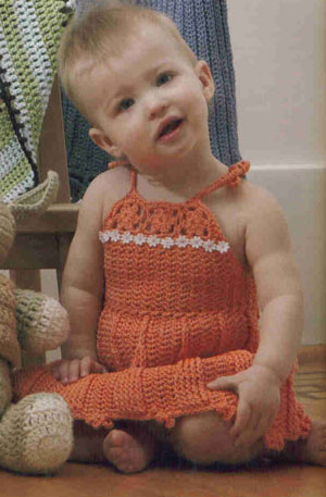 Tahki Cotton Classic Summer Daisy Sundress Kit - Crochet for Kids