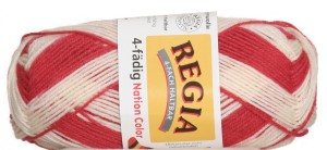 Schachenmayr Regia 4-Ply Color Yarn - 5392 - Nation Red/White