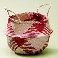 Lantern Moon Rice Baskets - Large Cranberry Basket