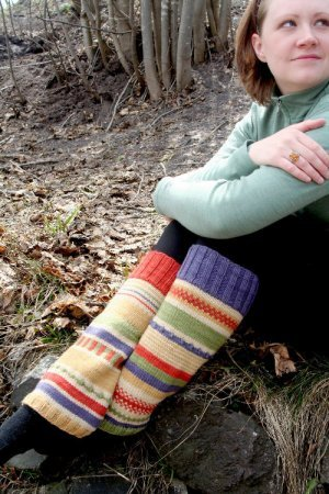 Knitting at Knoon Patterns - Funky Punky Leg Warmers Pattern