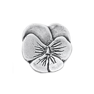 Danforth Pewter Buttons - Small Pansy - 3/4""