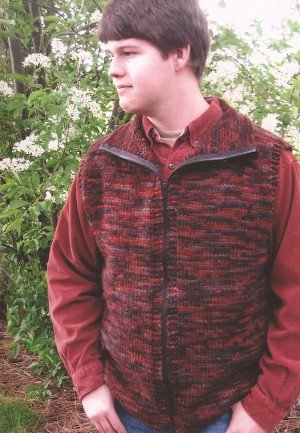 Knitting Pure and Simple Men's Sweater Patterns - 289 - Bulky Vest for Men Pattern
