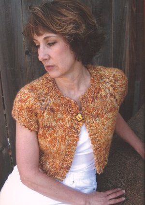 Knitting Pure and Simple Women's Cardigan Patterns - 0286 - Bulky Shrug Pattern
