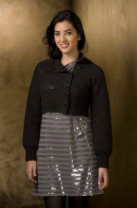 Filatura di Crosa Zara Bordeaux Jacket Kit - Crochet for Adults