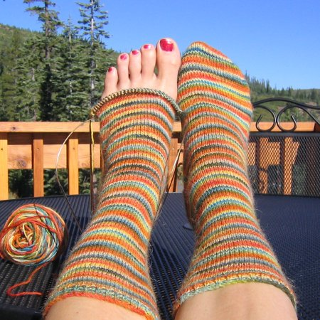 Misti Alpaca Hand Paint Sock Yarn Beginners Light Weight Socks Kit - Socks