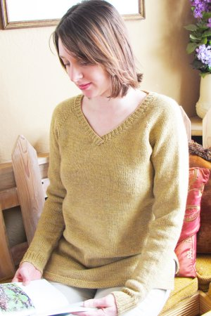 Knitting Pure and Simple Women's Sweater Patterns - 9726 - Neckdown Pullover Tunic Pattern