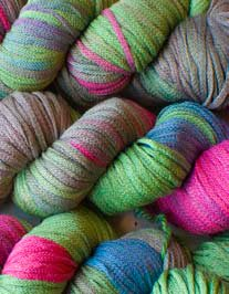 South West Trading Company Oasis Hand Dyed Soysilk Yarn - Royal Gems