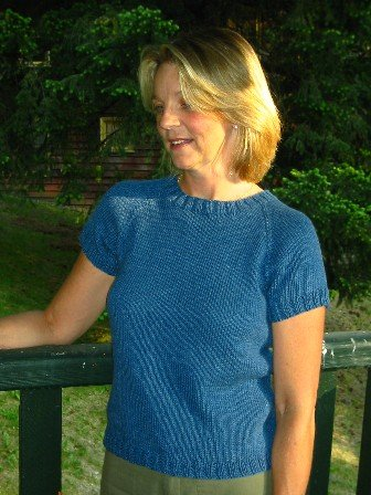 Knitting Pure and Simple Summer Sweater Patterns - 233 - Neck Down Shaped T Shirt Pattern