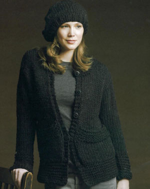 Tahki Montana Cardigan and Beret Kit - Women's Cardigans