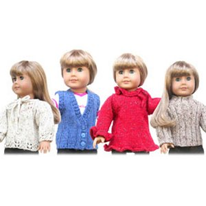 "Knitting at Knoon Patterns - 18"" Doll Sweaters: Two Pattern"