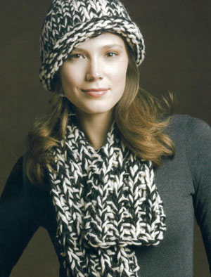 Tahki Montana Two Tone Hat and Scarf Kit - Hats and Gloves