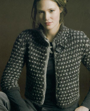 Tahki Montana Checkered Cardigan Kit - Women's Cardigans