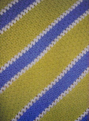 Muench Yarn Patterns - My Family Tricolor Baby Blanket Pattern