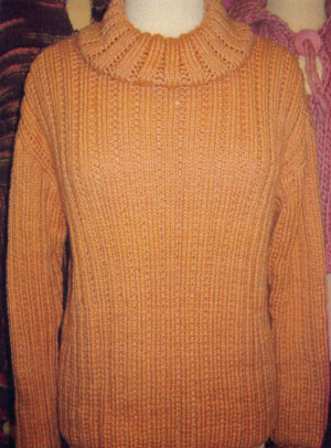 Muench Yarn Patterns - Family Ribbed Turtleneck Pattern