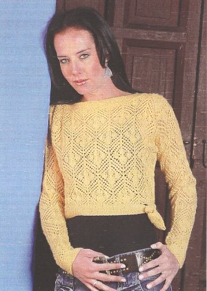Misti Alpaca Patterns - Diamond Flower Lace Top Pattern