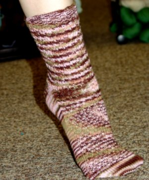 Colinette Jitterbug Fish Scale Socks Kit - Socks