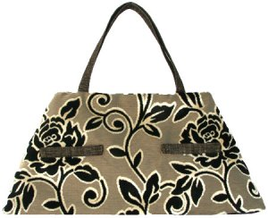 Offhand Designs Fiona Tote - Ebony and Ivory