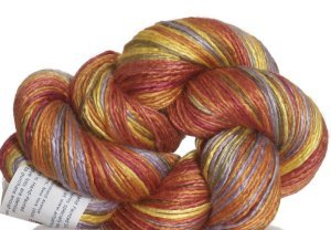 Artyarns Regal Silk Yarn - 136 - Peach/Yellow/Blue