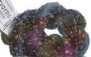Artyarns Beaded Mohair and Sequins Yarn - 182 w/Silver