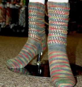 Battle Born Knits Patterns - Tiny Bubble Socks Pattern