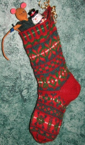 KnittinIt Patterns - Fair Isle Christmas Stocking Pattern